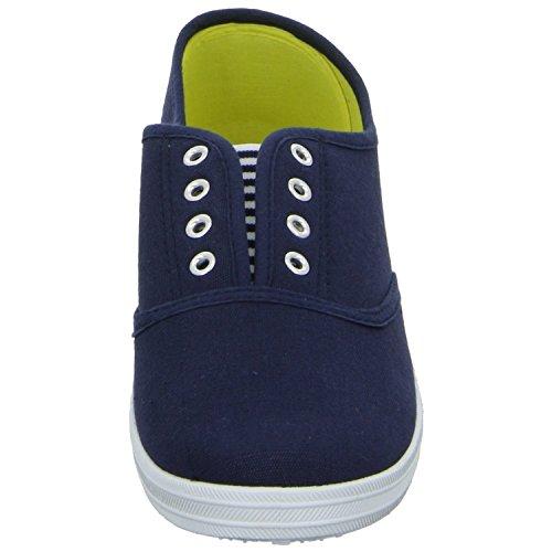 Sneakers 31.835.2.9 Damen Leinen Slipper/Kletthalbschuh Blau (Blau)