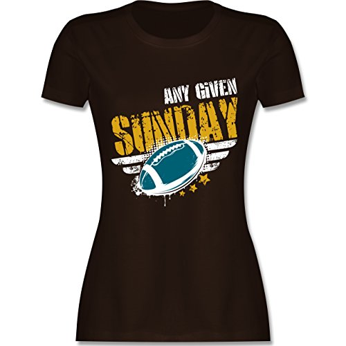 Shirtracer American Football - any Given Sunday Football Jacksonville - Damen T-Shirt Rundhals Braun
