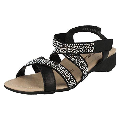 Remonte - Scarpe con cinturino alla caviglia donna Black