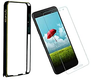DMGC Bumper Case With Tempered Glass for Sony Xperia C5 Ultra - Black