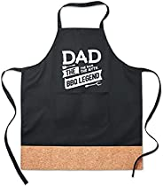 """funny quote""""dad, the myth. the man, the bbq legend""""best fathers day special gift adjustable apron fo"""
