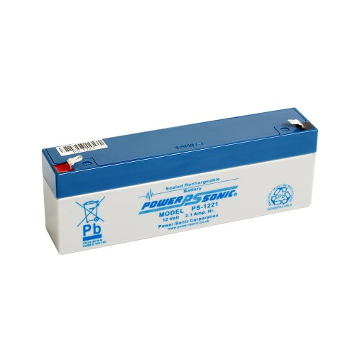Powersonic Power Sonic PS1221 12V 2.1Ah AGM Battery - Suitable For Response Alarm, Burglar Alarm, Security Alarm, Fire Alarm, Solar Alarm amp; Bell