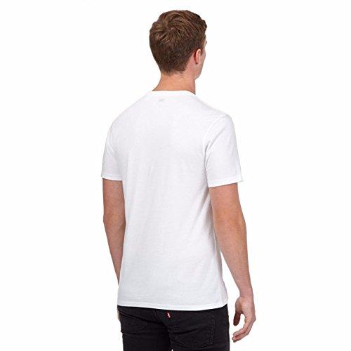 Levi's Herren Graphic Set-in Kragen Kurzarm T-Shirt White
