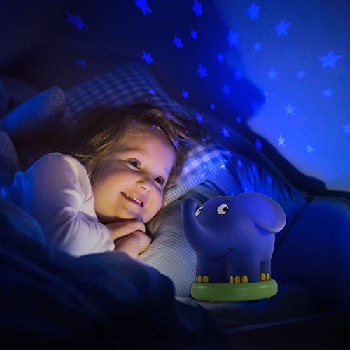 Imagen 4 de Ansmann 1800-0015 - Proyector de luz nocturno con estrellas en forma de elefante