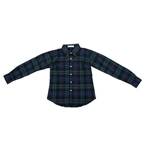 Frauen Blusen - SODIAL (R) Frauen Taste nach unten Revers Hemd Plaidmuster & Checks Flanell Hemden Oberteil Blusen gruen & lila M (Shirt Grüne Unten Taste Nach)