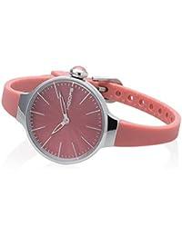 Uhr Hoops Cherie 2483l-24Quarz (Batterie) Stahl Quandrante Pink Armband Silikon