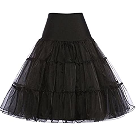 Hosaire 1X Sottogonna battenti Vintage Petticoat Fancy Net Gonna Rockabilly Tutu (Nero), Le ragazze e le donne sono la scelta migliore, Gonne,M