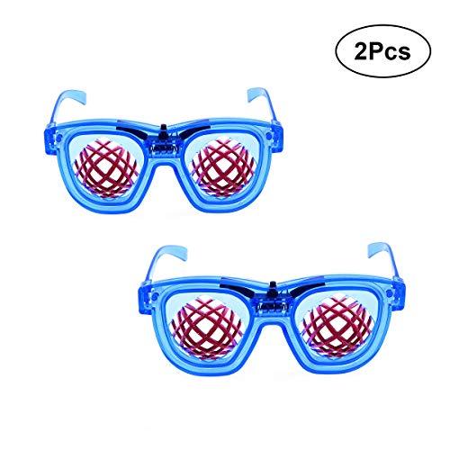 Amosfun 2 Stück Licht emittierende LED-Brille für Halloween Party Dance Dekoration Requisiten (Dance 2 Stück Kostüme)
