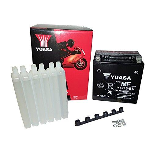YUASA BATTERIE YTX16-BS AGM aperto con imballaggio acido