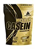 PEAK Micellar Casein Strawberry 500g | 100% natürliches & bioaktives Casein Protein mit Aminos |