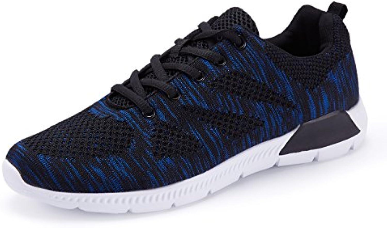 KALEIDO - Zapatillas de running de tela para hombre, color negro, talla 43