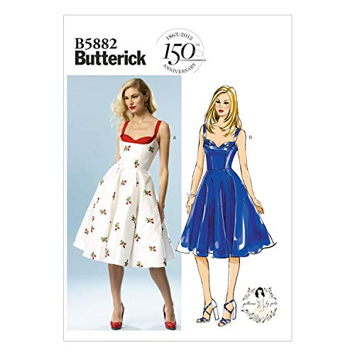 Butterick Patterns the mccall pattern company b5882 butterick patron de robe pour femme blanc taille 40/42/44/46/48