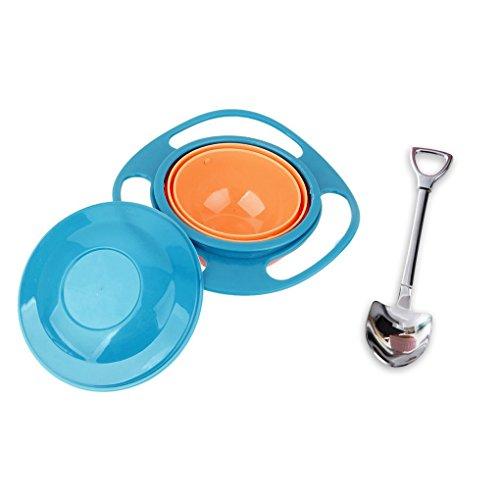 baby - schale 360 dgree rotation spritzwassergeschützte gyroskopischen schüssel mit deckel, spielzeug, geschirr für kinder und kleinkinder