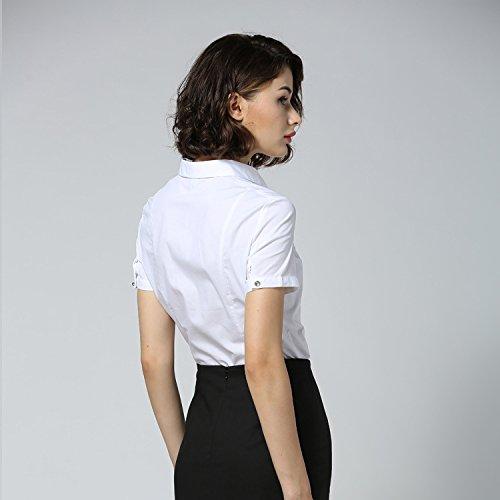 ZAMME Chemisier - Moulante - Manches Courtes - Femme Bodysuit shirt