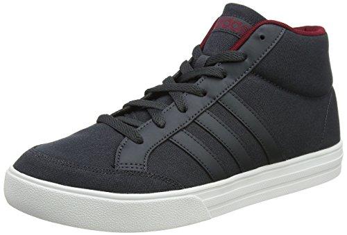 Adidas vs set mid, scarpe da tennis uomo, grigio carbon/cburgu, 44 eu