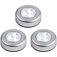 Set di  LED Stick & Push Light Argento SOTTOPENSILE armadio luce, 3
