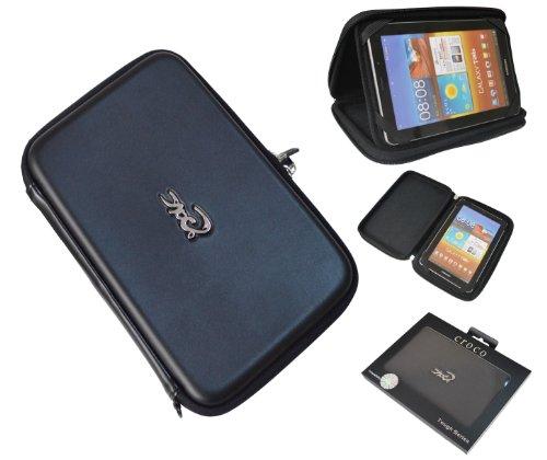 Croco CAS2841 Schutzschale für Samsung Galaxy Tab P6800 / P6810, 19,5cm (7,7Zoll), Schwarz Metallic