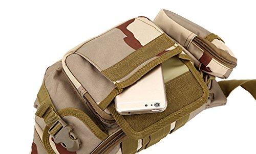 Katech Multifunktional Taille Pack Damen und Herren Outdoor Running Taschen Militär Tactical Taille Tasche für Wandern, Camping und Trekking Schwarz