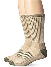 Woolrich Men's Ten Mile Hiker Crew Sock 2-Pack, Barley, Sock Size:10-13/Shoe Size: 6-12