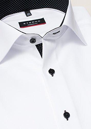 Eterna - Modern Fit - Herren Langarm Hemd mit Kent Kragen, Bügelfrei (8100 X13K) Weiß (01)