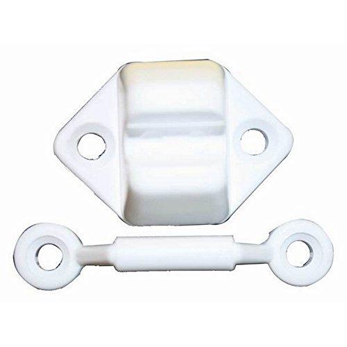 W4 Veneta Türfeststeller 2-teilig (Einheitsgröße) (Weiß)