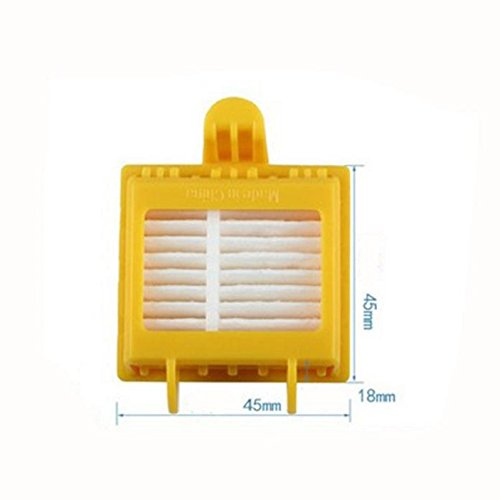 Tonsee 1 x Borsten und Schläger Pinsel Set + 6 x Gelb Hepa Filter für Irobot Roomba 700er Serie Hepa Nachschub Kit 760 770 780 790 Artikel - 3