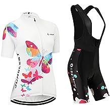 [Cojín 3D][c1 tamaño:M] maillot los para transpirable chaleco de manga Jerseys rompevientos mujer corta ciclismo rendimiento ropa
