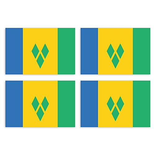 FLAGGE ST VINCENT UND DIE GRENADINEN 45x30cm mit kordel SAINT VINCENT UND DIE
