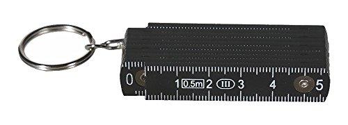 Schlüsselanhänger »Zollstock« 50 cm (Schwarz)