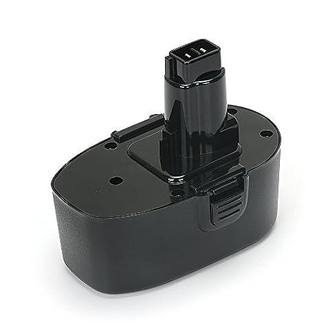 POWERGIANT électrique Batterie 18V 2000mAh NI-MH Batterie de Remplacement pour Black & Decker CD18C, CD18CE, CD18CA, CD18CAB, CD18CBK, CD180GK2, CD180K2, A9282, PS145 USW
