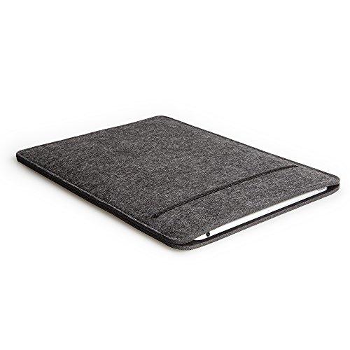 "FORMGUT Tablet Tasche für MacBook Air 13"", Schutzhülle aus Filz - Dunkelgrau Schwarz"