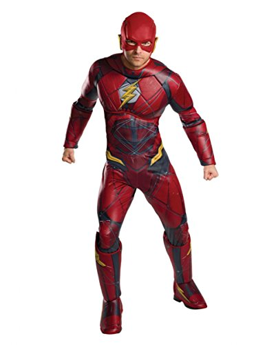 Justice League Flash Herrenkostüm Gr. 48-54 und 56-58 One Size (Barry Allen Halloween Kostüm)