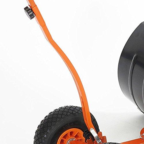 FUXTEC Schneeschaufel Schneeschieber mit Rädern Schneefräse - 4
