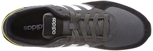 Base Scarpe Uomini Cinque 8k Ginnastica grigio Grigio Nero Bianco Adidas Di F17 Ftwr 5qY7twq