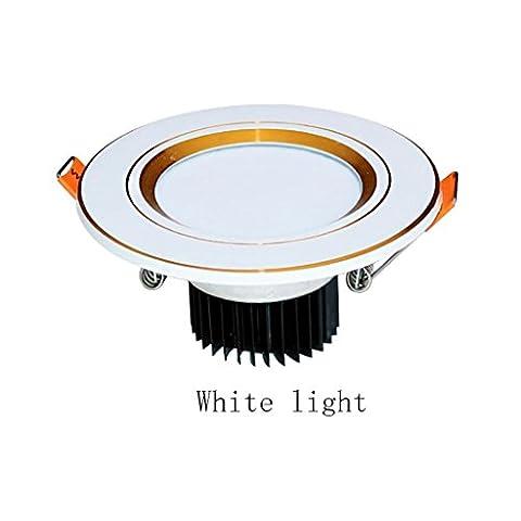 Downlight Plafonniers Projecteurs Led Trois-Couleurs Ouvertures Salon Chambre À Coucher Restaurant Couloir Ensemble Complet De Lampe Encastrée Trou Lampe Barrel Lumières De Trou Plafonnier 3W A1