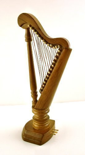 dollhouse-miniature-112-scale-walnut-harp-d7695-by-aztec-imports-inc