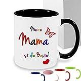 Kaffee Tasse Kaffeebecher~ Meine Mama ist die Beste! ~personaliertes Geschenk zum Muttertag Geburtstag...Rot, Schwarz, Blau oder Hellgrün, Rosa,Bordeaux