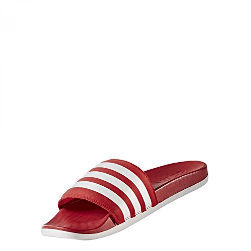 adidas Unisex-Erwachsene Adilette Cloudfoam Ultra Badeschuhe Rot (Scarlet/Footwear White/Scarlet)