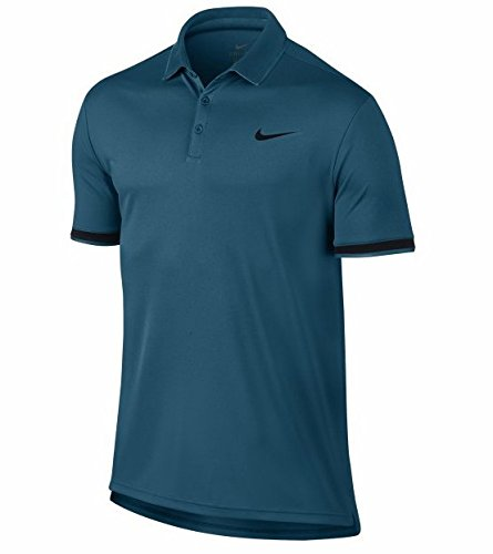 Nike 830849 Polo Homme, Green Abyss/Black/BL, FR : M...
