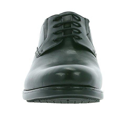 Clarks Shoes Hopton Walk Black Leather
