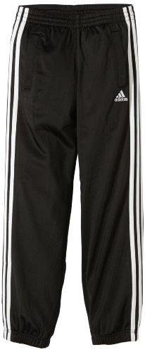adidas Kinder Hose Essentials 3 Stripes Pants Closed Hem, Black/Wht, 116, Z30307 (Shorts Mädchen Bermuda Knit)