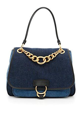 Miu-Miu-Womens-5BC0172EK3F0008-Light-BlueBlue-Cotton-Handbag