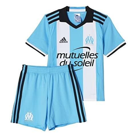 adidas Olympique Marseille Survêtement Mixte Enfant, Om Blue/White/Black, FR : 116 (Taille Fabricant : 116)
