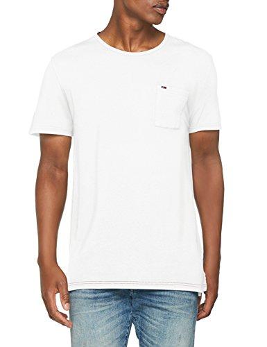 Garment Dye T-shirt (Tommy Jeans Herren Essential Garment Dye  Kurzarm  Top Weiß (Classic White 100) X-Large)