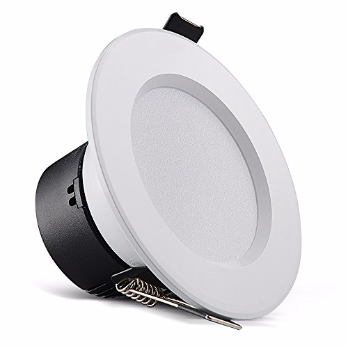 LED-Strahler Deckenleuchte integrierte 2,5-Zoll 7-8 cm 3 W Boden ho gold Lampe, Elfenbein Weiß - weißes Licht (Elfenbein Boden)