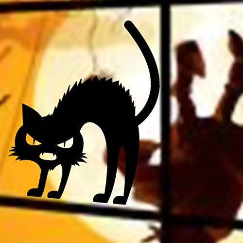 Wandtattoo Happy Halloween Schwarze Katze Hause Haushaltsraum Wandaufkleber Wandbild Abnehmbare Neue Beliebte Vinyl Abnehmbare 3D Wandaufkleber Halloween 17 Cm X 13 Cm
