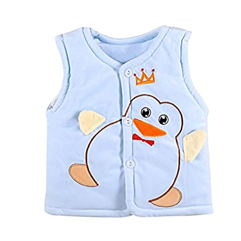 Newborn Baby Boys Girls Vest , Morwind Penguins Warm Sleeveless Tops Thermal Clothes Outfits (12 Months,