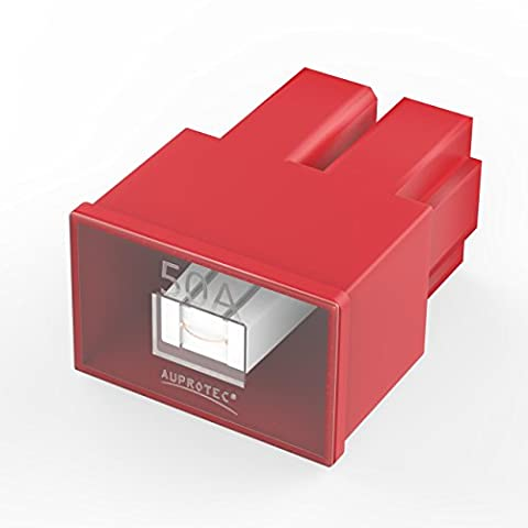 Auprotec® PAL AS fusible bloque femelle OTO AS fusibles japonaises 20A - 60A choix: 50A Ampere rouge, 1 pièce