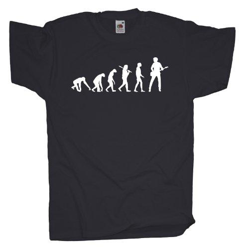 Ma2ca - Evolution - Basser Bassist Bass T-Shirt Charcoal