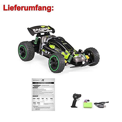 RC Auto kaufen Crawler Bild 6: Aandyou Ferngesteuertes Auto,RC Auto 1:18, High Speed RC Off Road Auto, 2.4 GHz 4WD Monstertruck für Kinder (Schwarz)*